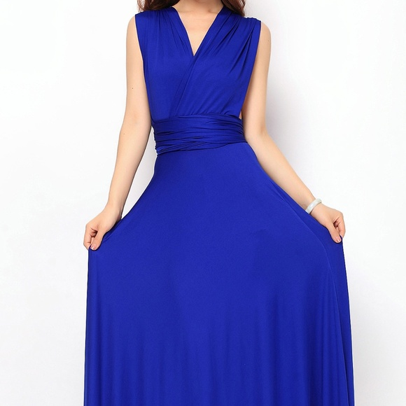 8d5dd8ede3e Royal Blue Maxi Infinity Dress. M 5abe50b061ca1070636b1d00